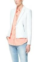 New Fashion 2014 Blazer Women Candy Colored Zipper Blazers One Button Suit Jacket  DJ-19