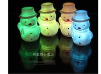 Beauterful Multicolor Snow man christmas man shape Christmas Night Lights LED Night Lamps
