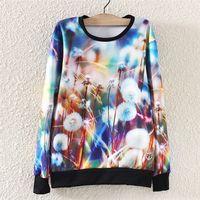 2014 Fashion Harajuku Autumn Winter Women Hoody Hoodie Dandelion Printed Sweatshirt Pullover Sport Suit Tracksuit Casual ST01A18