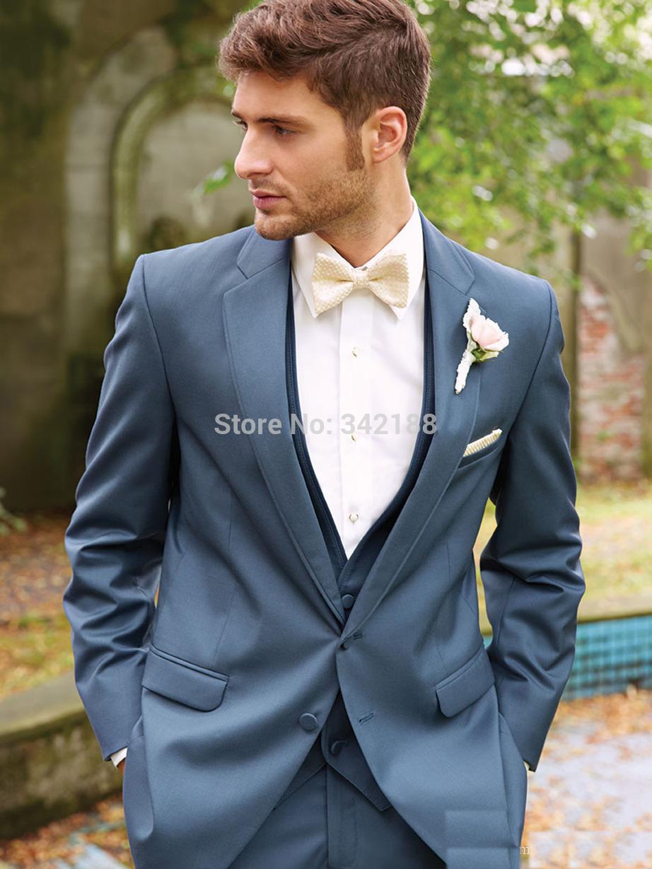 Свадебный мужской костюм Pleated  for you custom any size and color