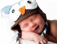 Owl Handmade wool little kids' knit baby boys' cap Beanie girls' winter hat