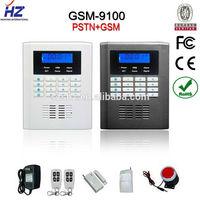 Free shipping 99 wireless zones GSM +PSTN intelligent wireless home burglar security alarm system