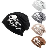Winter Hats Women Skull Heads Feature Letters HipHop Hat Beanie Korean Fashion Hats Wool Cap Women