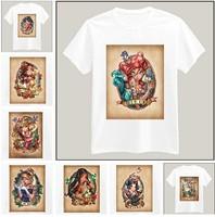 Tattoo Girl Printed Tshirt For Women Men Short Sleeve Unisex Cotton Casual White Shirt Top Tee XXXL Big Size ZY055-22