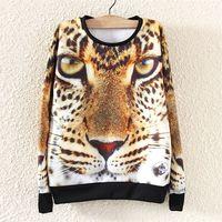 2014 Fashion Harajuku Autumn Winter Women Hoody Hoodie Leopard Printed Sweatshirt Pullover Sport Suit Women's Tracksuit Casual