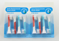 Soft bristles Value pack children electric toothbrush head compatible P-HX-6034/32 sonicare replacement brush head oral hygiene.