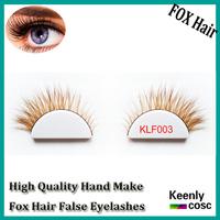 Fastest Shipping! Wholesale 100% real Fox Fur Lashes Top-rank Fox Hair False Lash Belle Eyelash Extensions la charme eyelash