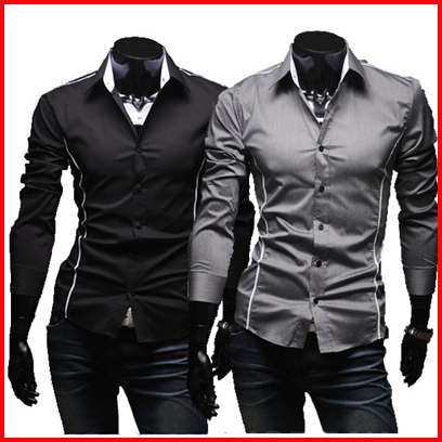 H471 Free Shipping top quality exclusive edition perfect tailor long sleeve man casual shirts show your personality 3 colors(China (Mainland))