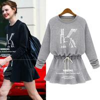Winter Brand European Slim Long Sleeve Cotton Printed Lace Dress Women Dress Roupas Femininas Desigual Women Clothes Novelty