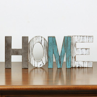 American style vintage retro finishing wood letter home decoration home decoration entrance way props HOME 1pc freeshipping