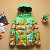 Boy coat cartoon animals printing boys parka winter children jacket  down and parkas coats Fashion girls down kids jackets