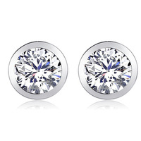 Wholesale white gold plated crystal fashion earrings wedding jewelry women  7R716