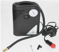 Car Auto Inflatable Pump Air Pump Emergency Air Compressor Cigarette Lighter Power Supply Tire Tools with Tire Pressure Gauge