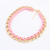 Canlyn Jewelry (2 pieces/lot) Light Color Knitted Chain Necklace Wholesale Fashion Jewelry for Women CX180