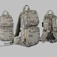 ACU Camo Camouflage Airsoft Military Tactical Hiking Camping Assault Day pack Bag MOLLE Hydration Backpack
