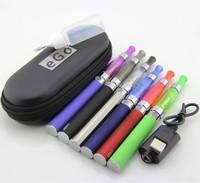 Free shipping ego ce4 double kit e-cig 2 CE4 atomizer 2 battery 650mah eGo e-cigarette zipper case 650mah ce4 kit