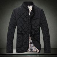 Winter Men Coat 2014 New Brand Fashion Cotton-pad Jacket Luxury Overcoat Warm Thicken Leisure Parka Mens Casacos Femininos