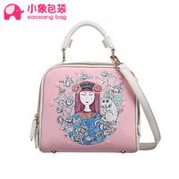 Circleof bag 2014 doodle animal cartoon bag square bag handbag cross-body bags female x1676