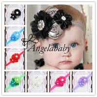 Trail Order 10PCS/LOT Infant Toddlers Baby Headbands Baby Girls Flower Headband Newborn Baby Hair Accessories