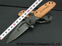 BROWNING X28 Carbon Fiber + Wood Handle 440C 57HRC Blade Utility Folding Pocket Knife Freeshipping