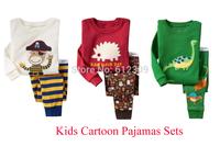 fashion new girls ladybug and bee print pajamas boys dinosaur cartoon pajama children tortoise animal print Pijama kids PJS