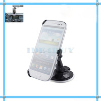 Black Car Windshield Mount Stand Holder Suction Cup for Samsung Galaxy S III S3 i9300 1PC Free Ship