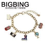 BigBing  jewelry Fashion  chain Bracelet charm bracelet nickel free Q582
