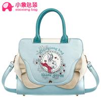Circleof bag PU laciness print cartoon rabbit bag handbag messenger bag women's handbag x1627