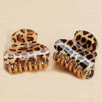 CCF001 New Women's Hair Accessories Leopard Print Small Hair Claws Girls Headwear