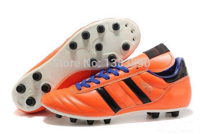 Homens Hot Copa Mundial de Futebol de couro FG Botas 2014 Copa do Mundo de Futebol Sapatos Laranja Grampos sapatos de futebol atlético botines futbol(China (Mainland))