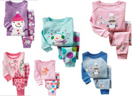 new 2014 christmas pajama Children Santa Claus Holiday Sleepwear kids 2pcs Pyjamas Pijama Infantil for 2-7 years