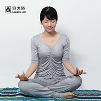 free shipping Casual half-sleeve sportswear yoga suit