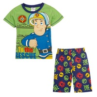 FREE SHIPPING 2014 fashion children clothing baby boys printed cartoon character fireman hot summer short sleeve T-shirt CD4723#
