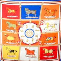 2014 Fashion 130*130CM Women  Big Square Designer  Cashmere  Twill  H Horse  Print Scarf   7colors  Printed Horse  Clothing Set