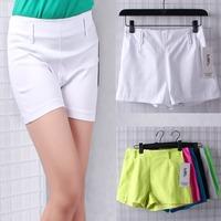 New 2014 candy color women shorts fashion ladies shorts hot short pants Slim Elastic Waist Casual cotton female Stretch shorts