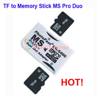 High Quality Dual Micro SD TF to Memory Stick MS Pro Duo Adapter CR-5400 CR5400 TF Card Adapter Free Shipping