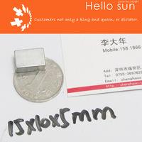 Super Strong Neodymium magnets N35, 15X10X5mm 100 PCS , block magnets  Super Powerful Strong Neodymium Magnet