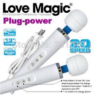 20 Speed Magic Wand Massager Love Magic Wands,AV Vibrator Powerfull Vibration Body Massager Sex Toys 110-240V by DHL 20pcs/lot