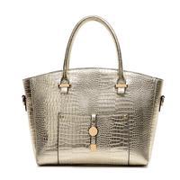 2014 Fashion CELEBRITY Desigual Bag Crocodile Skin Handbag for Women Gold Tote Shoulder bags Female Handbag High Quality