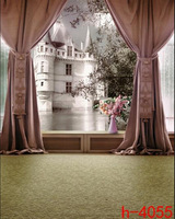 5x7ft Pictorial cloth Computer-Painted Shoot Studio  Elegant Living Room White Castle Photography Background fabric