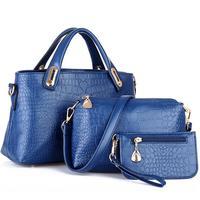 3 pcs/group 2014 American Style Desigual Bag Women Crocodile Skin Handbag Shoulder bag Messenger BAG Clutch Purse High Quality