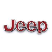 Emblem Badge Sticker Decal Metal J-e-e-p For Cherokee Wrangler Liberty Patriot Red