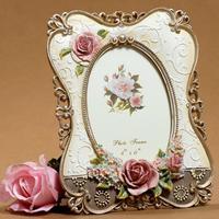 Frame 6 inch embossed flower garden painting resin photo frame