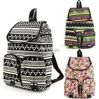 2014 New women stripe owl canvasrucksack backpack,children school bag,men's travel backpack,computer bag,mochilas