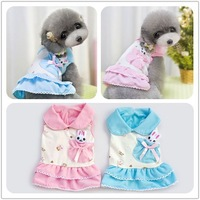 New arrival!! Faction can pocket spring and summer cute bunny doll dress skirt dog pet dog clothing Free Shipping