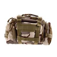 Fishing Lure Rod Bag Waist Pack Handbag Shoulder Bag Tackle Bag Tan Camouflage