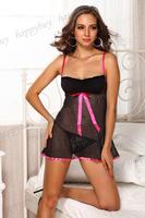 2014 Womens Sexy Lingerie Hot Nightwear Ribbon lace and ribbon babydoll Club's Sleepwear Size XXL