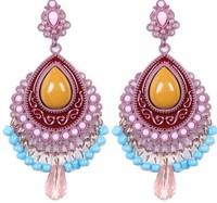 Vintage Luxury Resin Beads Women Fashion Dangle Bohemian Style Fashion Female Long Earrings. Hot Sale Ethnic Jewelry Accessories