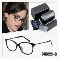 brand eyeglasses women CH3221 Chain frame glasses frame Metal fashion brand designer eye glasses brand oculos de grau women