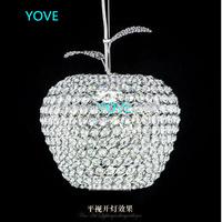 Modern Crystal Chandelier Lamps 12CM 20CM 25CM 28CM Apple Lustres De Cristal Restaurant LED Chandelier Crystal Lamp FreeShipping